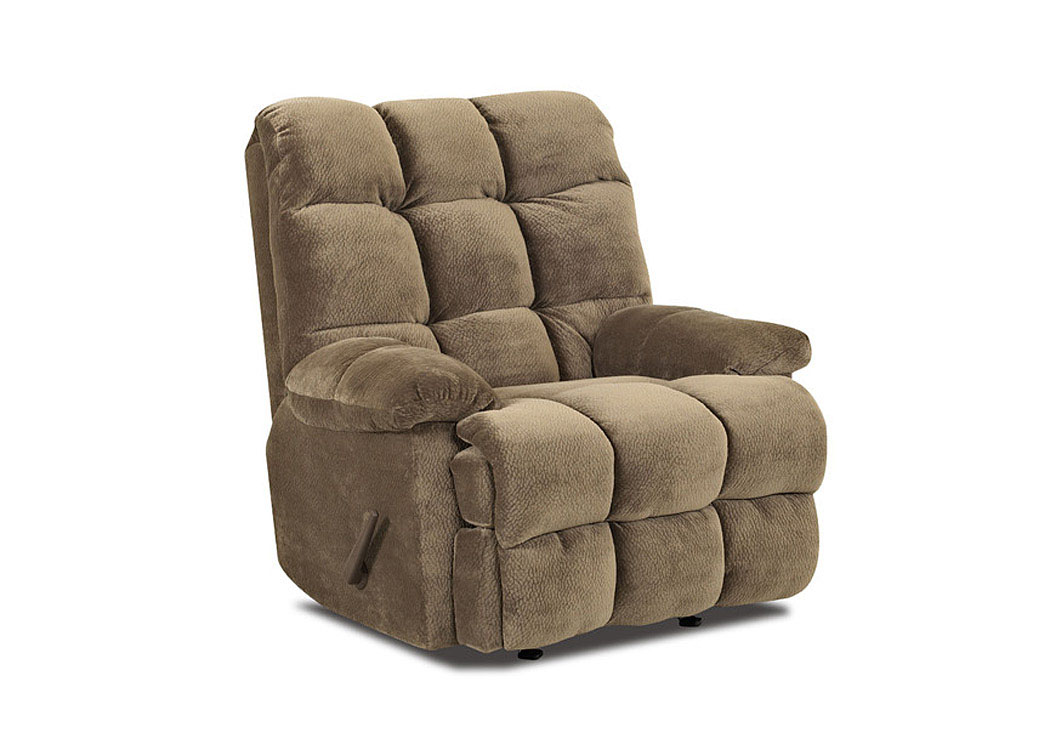 Brownsville Mocha Reclining Chair,Klaussner Home Furnishings