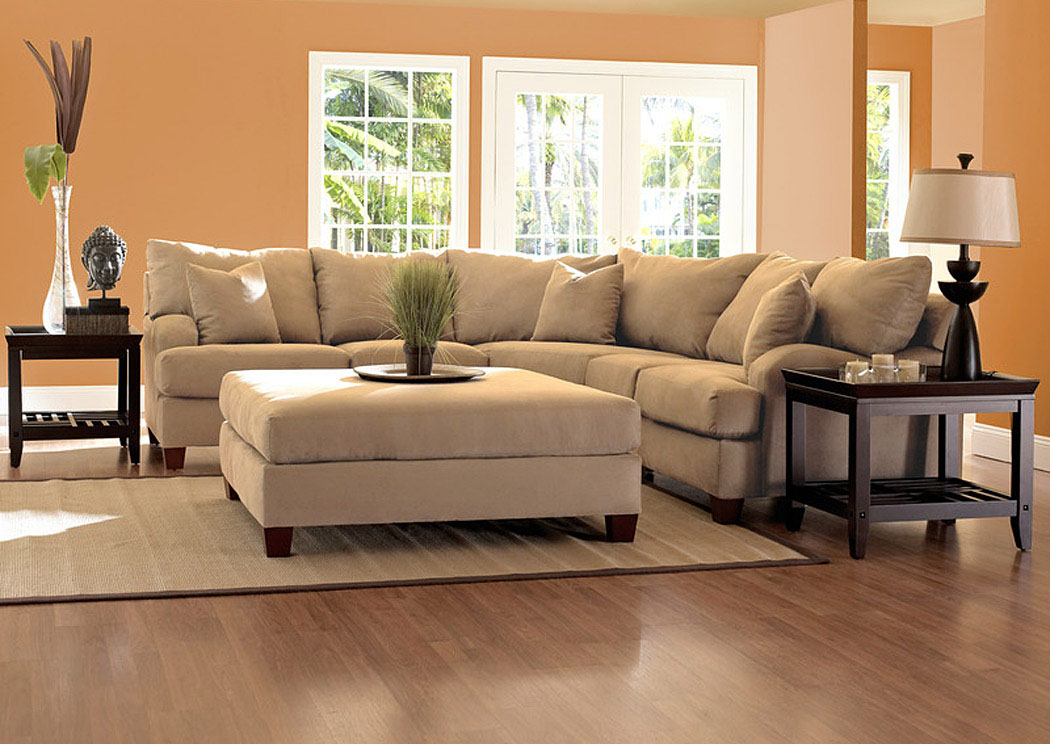 Canyon Camel Sectional,Klaussner Home Furnishings