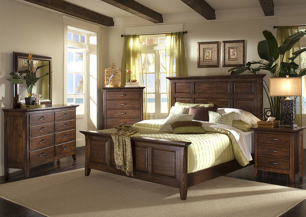 Unclaimed Furniture AR Carturra King Bed, Dresser, Mirror, & Chest