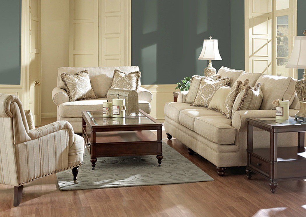 Darcy Straw Sofa & Loveseat,Klaussner Home Furnishings