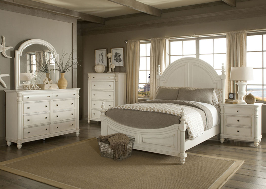 Eastport Queen Poster Bed, Dresser, Mirror, Chest & Night Stand,Klaussner Home Furnishings