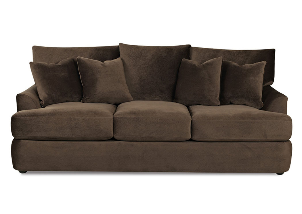compass furniture findley chocolate sofa. Black Bedroom Furniture Sets. Home Design Ideas