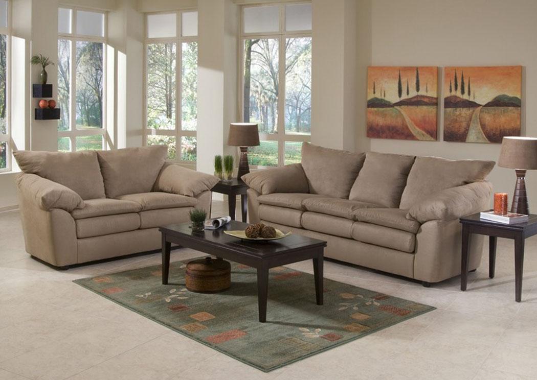 Squan furniture heights taupe sofa for Klaus k living room brunssi