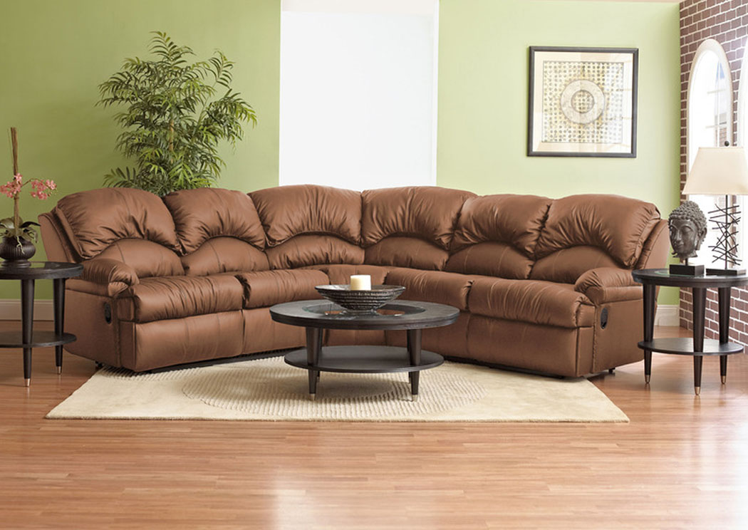 Phoenix Almond Reclining Sectional,Klaussner Home Furnishings
