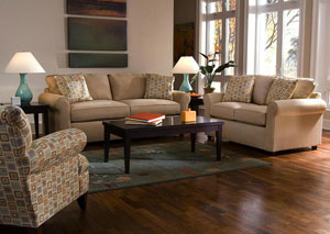 Brighton Khaki Sofa & Loveseat