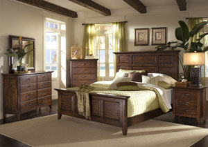 Carturra King Bed, Dresser, Mirror, & Chest