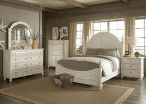 Eastport King Poster Bed, Dresser, Mirror, Chest & Night Stand'