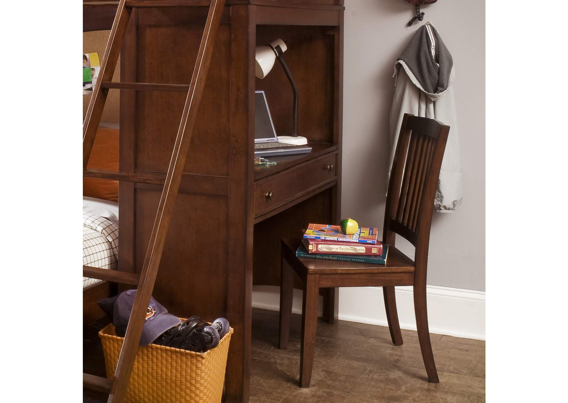 Chelsea Square Youth Loft Bed Desk,Liberty