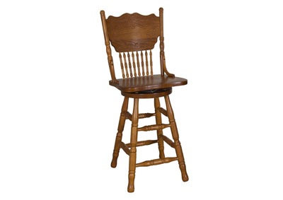 Nostalgia 24 Inch Press Back Barstool