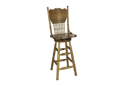 Nostalgia 30 Inch Press Back Barstool