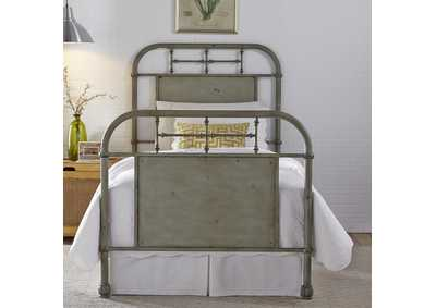 Vintage Series Youth Twin Metal Bed - Green