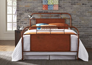 Vintage Series Youth Twin Metal Bed - Orange