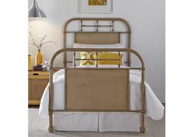 Vintage Series Youth Twin Metal Bed - Vintage White