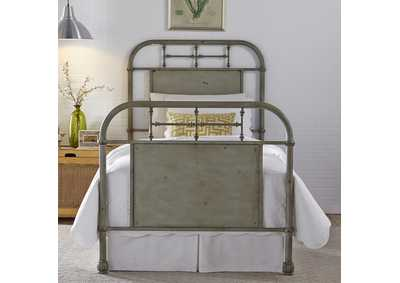 Vintage Series Youth Full Metal Bed - Green