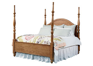 Camelback Poster King Bed, Bench Finish