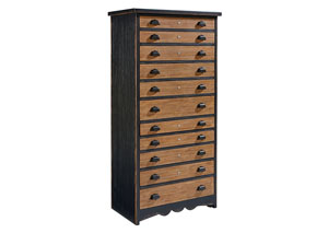 Library 11-Drawer Chest, Bench Finish