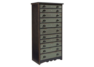 Library 11-Drawer Chest, Patina Finish