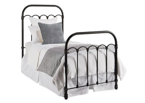 Colonnade Metal Full Bed, Blackened Bronze Finish