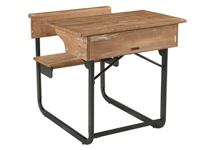 Schoolhouse Salvage Finish Desk w/Carbon Base