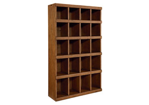 Classroom Cubby Bookcase, Bench Finish