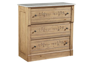 Vine Wheat Chest w/Marble Top