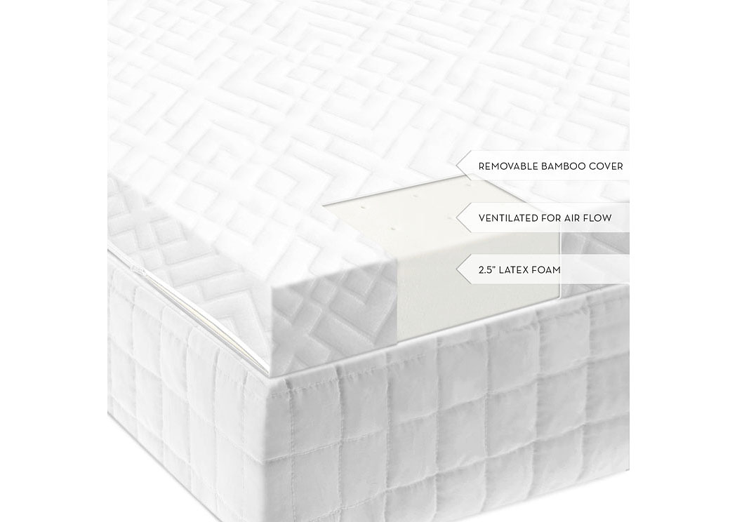 Isolus 2.5 Inch Ventilated Queen Latex Mattress Topper,ABF Malouf
