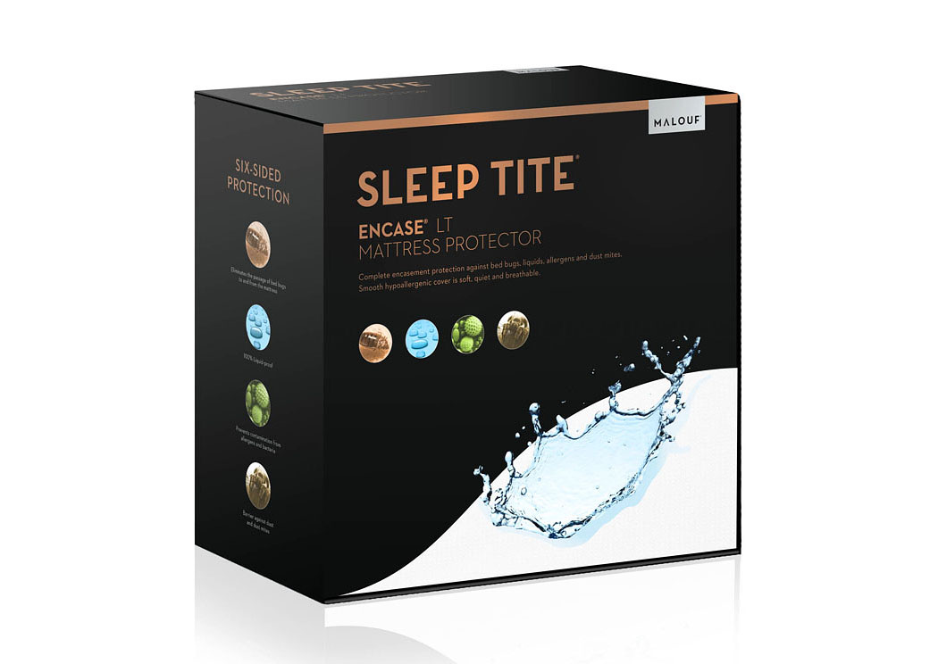 Sleep Tite Pr1Me Smooth Hypoallergenic Queen Mattress Protector,ABF Malouf