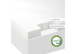 Isolus 2 Inch Ventilated Queen Memory Foam Mattress Topper