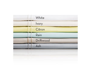 Malouf Italian Cotton Percale Ivory California King Sheets