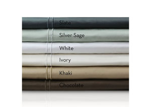 Malouf 600 Thread Count Single Ply Chocolate Queen Sheet Set