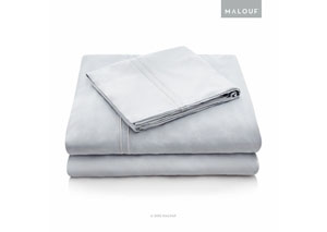 Malouf Rayon Ash Queen Sheet Set
