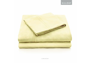 Malouf Rayon Citron Queen Sheet Set