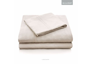 Malouf Rayon Driftwood Queen Sheet Set