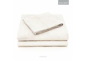 Malouf Rayon Ivory Queen Pillowcase Set