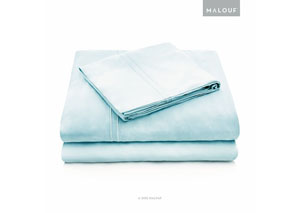 Malouf Rayon Rain Queen Pillowcase Set