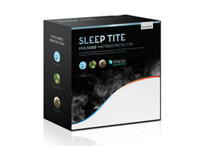 Sleep Tite Five-5Ided Hypoallergenic Queen Mattress Protector w/ Omniphase and Tencel
