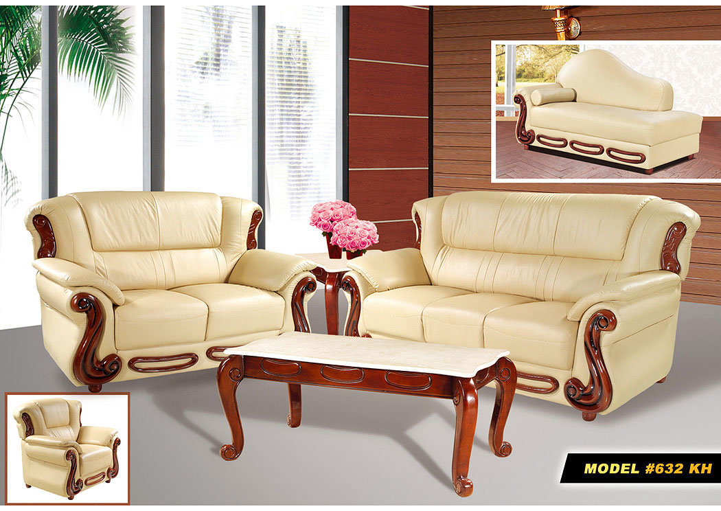 Lovely Khaki Leather Sofa U0026 Loveseat,Meridian Furniture