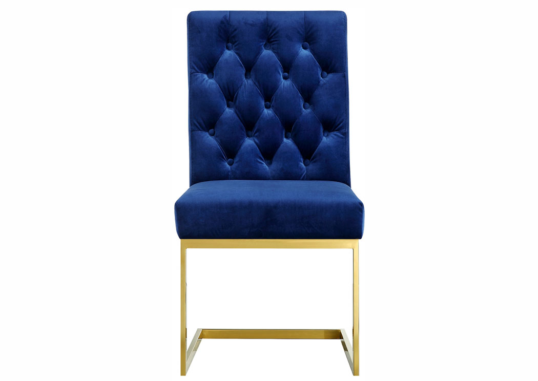 Cameron Navy Velvet Dining Chair,Meridian Furniture
