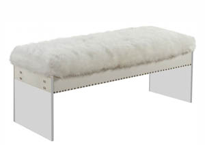 White Jenny Fur Bench