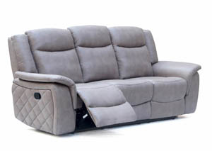 Carly Grey Leather Sofa