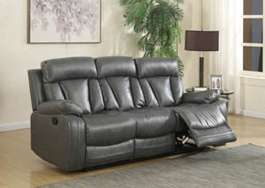 Avery Grey Leather Sofa