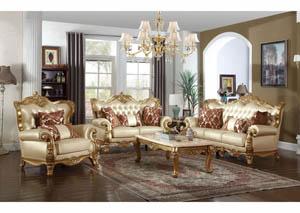 409459 White Bennito Pearl Leather Sofa U0026 Loveseat