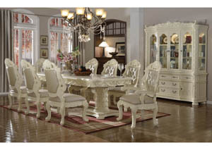 Madrid Dining Table w/6 Side Chairs & 2 Arm Chairs