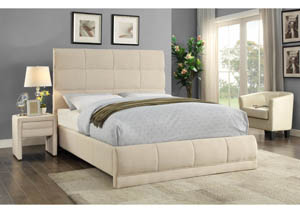 Cooper Beige Linen Full Bed