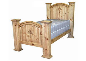 Mansion Twin Bed w/Cross