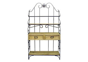 Wrought Iron Baker's Rack w/2 Drawers