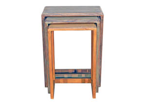 3 Colored Nesting Tables