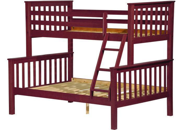 Palace Imports Mission Twin Full Bunk Bed