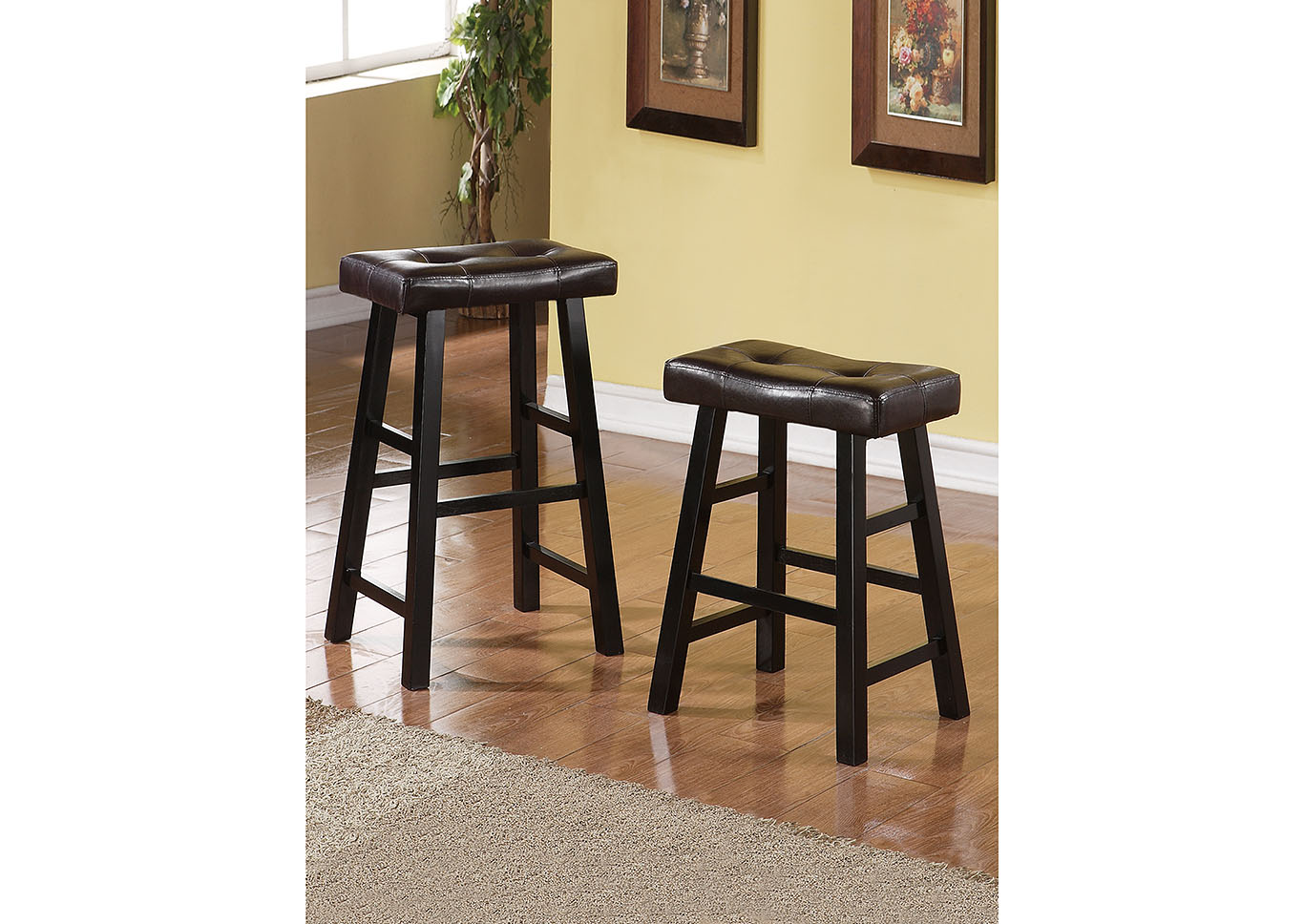 bayit furniture brown faux leather counter stool