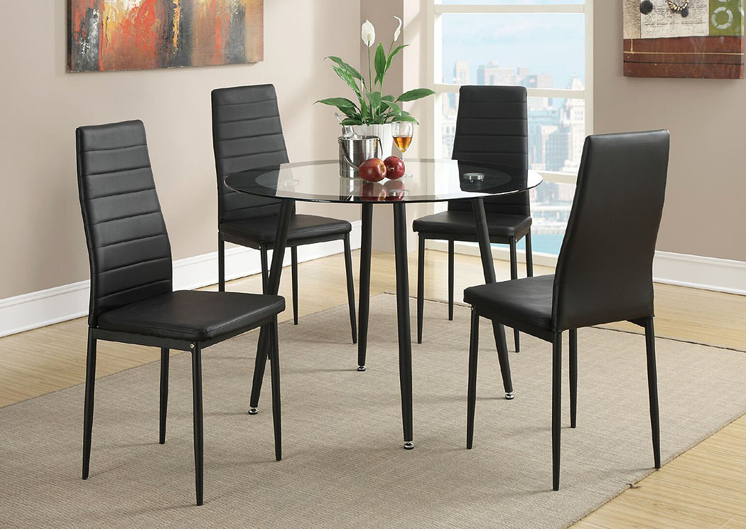 ocean furniture black faux leather dining chair
